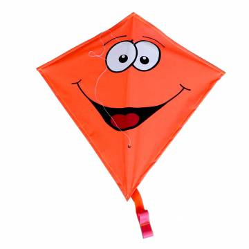 Rhombus Vlieger Diamond Smiley - Oranje