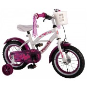 Volare Heart Cruiser Fiets - 12 inch - Wit Paars