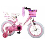 Volare Rose Fiets - 14 inch - Roze Wit