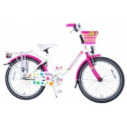 Volare Ashley Fiets - 20 inch - Wit/Roze