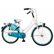 Volare Oma Dolce Fiets - 24 inch - Wit/Blauw