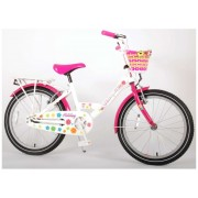 Volare Ashley Fiets - 20 inch - Wit/Roze - twee handremmen