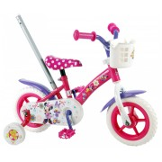 Disney Minnie Bow-tique Fiets - 10 inch - Roze/Wit/Paars