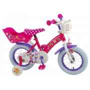 Disney Minnie Bow-Tique Fiets - 12 inch - Roze Wit