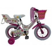 Volare Ashley Fiets - 12 inch - Wit - 2 handremmen