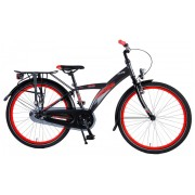 Volare Thombike City Fiets - 24 inch - Grijs/Rood