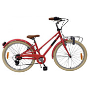 Volare Melody Fiets - 24 inch - Pastel Rood - 6 speed