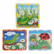 Puzzel Hout - Insecten