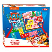 Paw Patrol Lotto,Domino,Memo - 3in1
