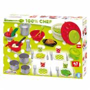 Ecoiffier 100% Chef Dinerset, 47dlg