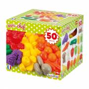 Ecoiffier 100% Chef Groenten- en Fruitbox, 50dlg.