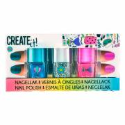 Create It! Nagellak Glitter, 3st.