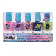 Create It! Galaxy Nagellak Confetti, 5st.