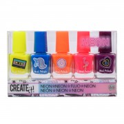 Create It! Neon Nagellak, 5st