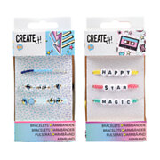 Create It! Armbandjes Letters & Kralen, 3-pack