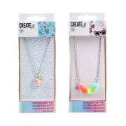Create It! Ketting Pompons + Confetti Hartje