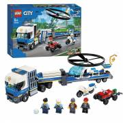 LEGO City 60244 Politie Helikopter Transport