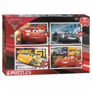 Cars 3 Puzzel 4in1