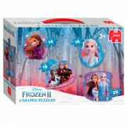 Disney Frozen 2 - Vormenpuzzel, 4in1