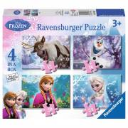 Disney Frozen Puzzel - Frozen, 4in1