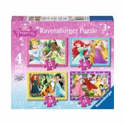 Disney Prinses Puzzel, 4in1