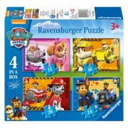 Paw Patrol Puppies op Pad Puzzel, 4in1