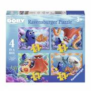 Finding Dory Puzzel, 4in1