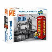 Clementoni Metallic Puzzel Minions in Londen, 1000st.