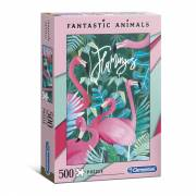 Clementoni Fantastic Animals Puzzel Flamingo's, 500st.