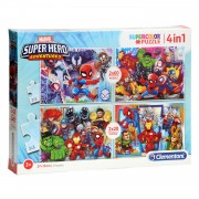 Clementoni Puzzel Marvel Superhelden, 4in1