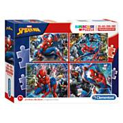 Clementoni Puzzel Spiderman, 4in1