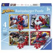 Spiderman Puzzel, 4in1