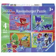 PJ Masks Puzzel, 4in1