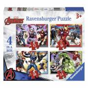 The Avengers Puzzel, 4in1