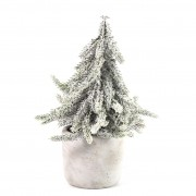 Kerstboom in Pot Lucien Wit, 20cm