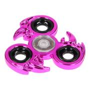 Fidget Spinner Metal Chrome Look - Roze Flame