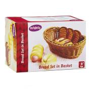 Houten Brood Set in Mand