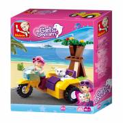 Sluban Girl's Dream Motor met Zijspan