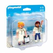 Playmobil 9216 Duopack Steward en Stewardess