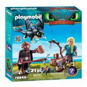 Playmobil Dragons 70040 Hikkie en Astrid Speelset
