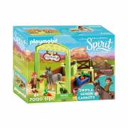Playmobil Spirit 70120 Knip en Mr. Worteltjes met Paardenbox