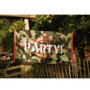 Camouflage Vlag 'Party!'