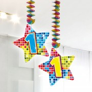 Hangdecoratie Blocks 1 jaar