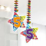 Hangdecoratie Blocks 5 jaar