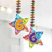 Hangdecoratie Blocks 6 jaar