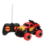 RC Mini Big Wheel Monstertruck - Rood, 13cm