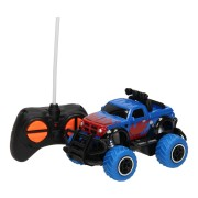 RC Mini Big Wheel Monstertruck - Blauw, 13cm