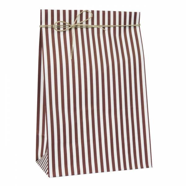 Ib Laursen Geschenktas Stripes Groot- Rood Wit