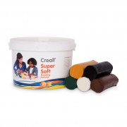 Creall Supersoft Klei Safari kleuren, 1750gr.