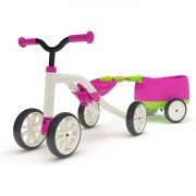 Chillafish Quadie Loopfiets met Trailie - Roze